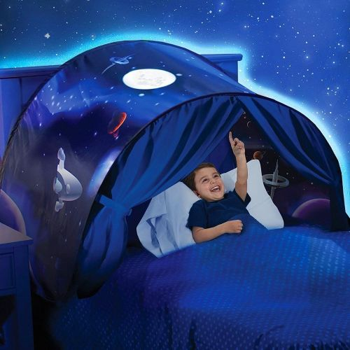 Space Galaxy Stars Pop Up Bed Dream Tent KIds Fun Safe Space Area Den