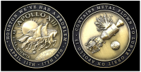 Apollo 13 Medallion Minted With Flown To Lunar Orbit MetalNew Product