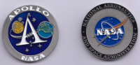 NASA HQ APOLLO NASA Logo Challenge Coin Medallion