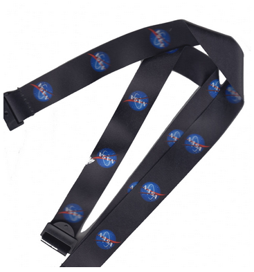 Rare NASA Vector Logo Space Program Lanyard