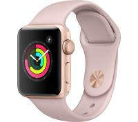 Apple Watch Series 3 With 38 mm Aluminium Case Smart Watch Rose Gold/Pink