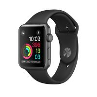Apple Watch Series 1 38mm Space Grey Aluminium Case with Black Sport Band (Quality Pre-Owned)