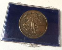 Very Rare Challenger Shuttle Crew Accident Commemorative Large Medallion Coin In Display Case
