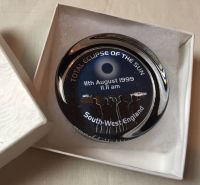 Glass Paperweight Total Eclipse Of The Sun 11th August 1999 11.11 am South West England Rare Boxed