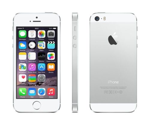Apple iPhone 5S 16GB White & Silver Unlocked To All Networks Boxed Very Goo