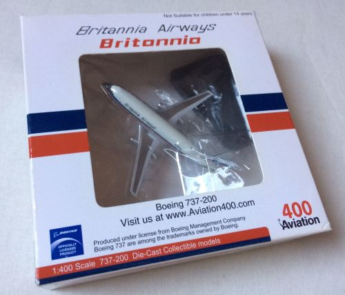 Genuine Boeing Britannia Airlines Diecast Metal Aircraft Model Boxed Airlin