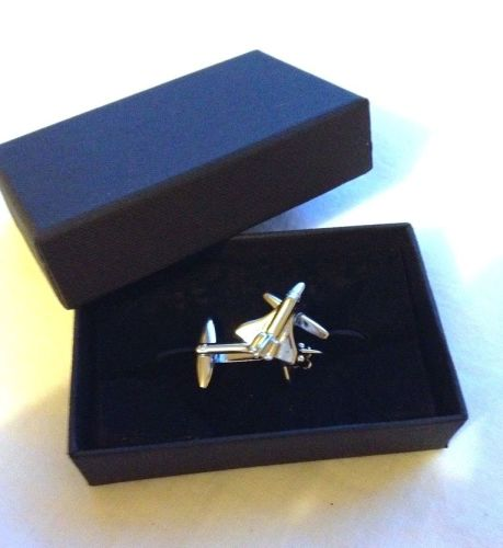 NASA Silver Colour Space Shuttle Cufflinks Discovery Atlantis In Gift Box