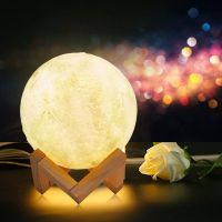 Apollo Moon Lamp 3D Space Lunar Night Light Sensory USB Charging Touch Control
