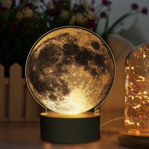 Lunar Moon Apollo LED Moon Nightlight Bedside Lamp Touch Control