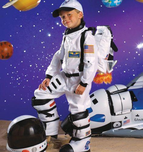 Nasa Astronaut Jumpsuit Boys Fancy Dress Space Uniform Kids Childs Costume