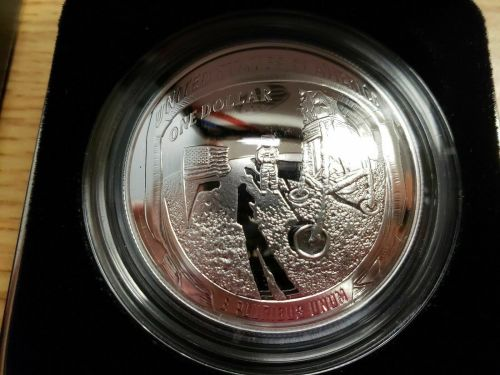 NASA US 50th Anniversary Apollo 11 Moon Landing Silver Commemorative Coin