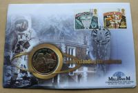 APOLLO Brilliant Uncirculated Millennium Isle Of Man Crown Coin Stamp Cover THE MOON 16