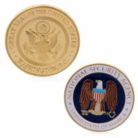 National Security Agency USA Goverment Commemorative Collectable Coin Medallion Gold Plated
