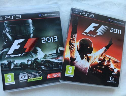 F1 Motor Racing Formula 1 2011 & 2013 Set Playstation Sony PS3 Game Rare