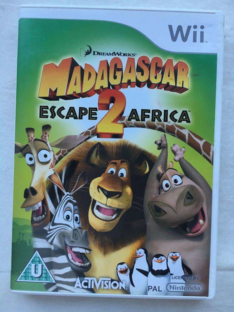 Nintendo Wii Game Madagascar Escape 2 Africa Classics