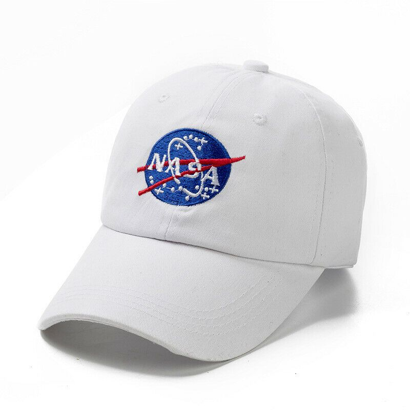 NASA Logo Baseball Cap Hat Cream