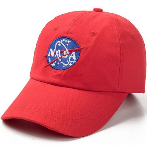 NASA Red Embroidered Baseball Cap Hat Astronaut NASA Emblem Logo Quality