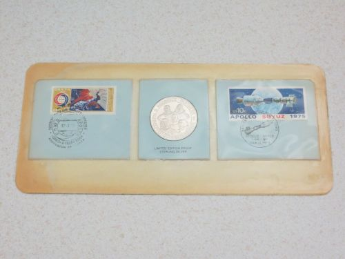 NASA & Russian Soyuz 1974 First Day Cover Commemorative Stamps And Solid Si