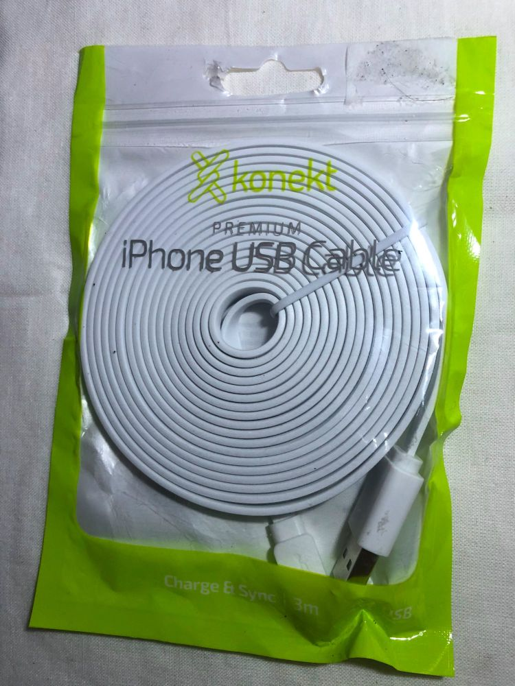 3 Meter Long iPhone iPad Lightening Charger Cable Quality