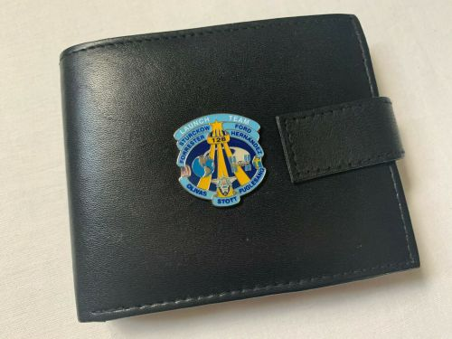 NASA Pewter Logo Genuine Leather Wallet