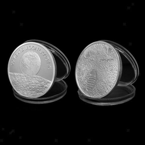 Neil Armstrong Medallion Moon Landing Commemorative Coin 50 Anniversary Lar