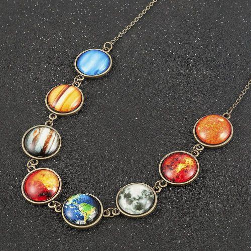 Planets Wrist Bracelet Solar System Space Bronze Colour Stunning