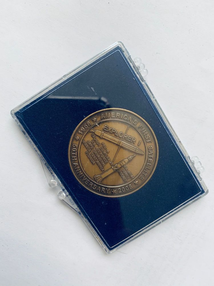 NASA Medallion In Display Case Rare Large Coin Space Exploration