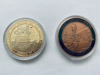 Apollo & Mars Rover Medallion Set Stunning Large Size Coin Medals In Display Cases