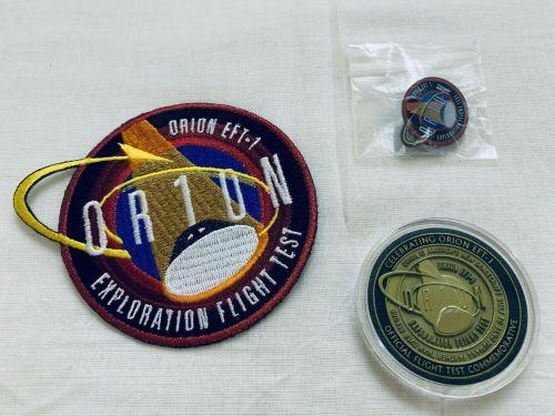 ORION EFT-1 DEEP SPACE EXPLORATION SYSTEM FLIGHT TEST NASA MEDALLION PATCH