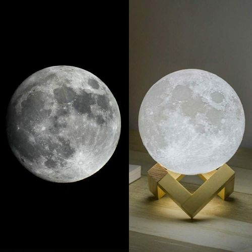 Apollo Moon Lamp 3D Space Lunar Night Light Sensory USB Charging Touch Cont