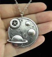 Cog Planet Large Stunning Necklace Chain Jewellery