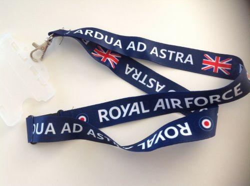 RAF Lanyard Aviation Aircraft UK Air Force Neck Strap Tag ID Card Holder