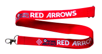 RAF Red Arrows Show Lanyard Aviation Aircraft UK Royal Air Force Neck Strap Tag ID Card Holder