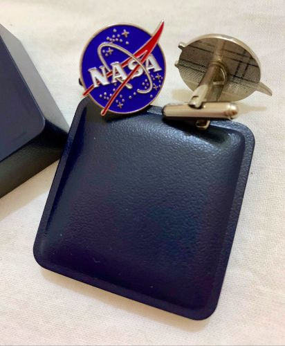 Genuine NASA Logo Space Shuttle Shirt Cuff links Business Work Meeting Scie