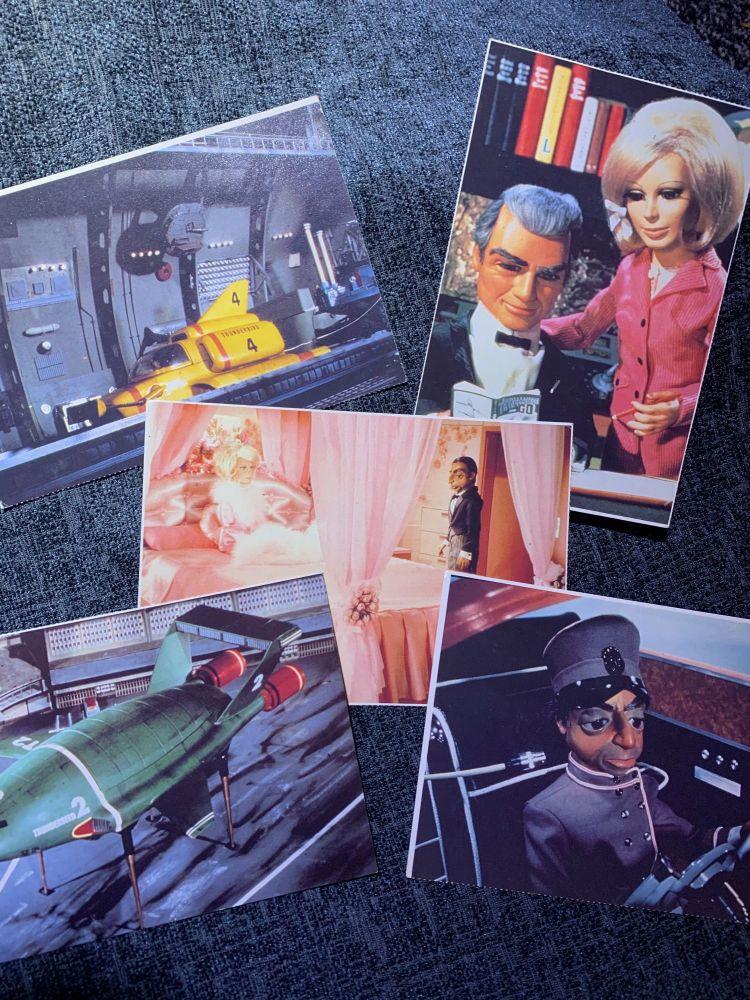 Gerry Anderson Thunderbirds Classic Cult TV Genuine Large Postcard Set Rare