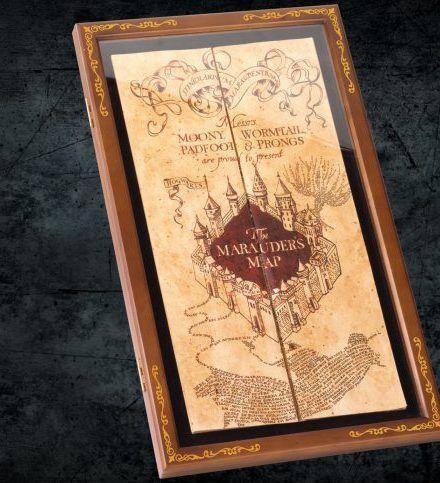 Genuine Warner Harry Potter Marauder's Map In Display Case Exact Best Repli