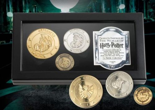 Harry Potter J.K Rowling Genuine Noble Collection Gringots Coin Medallion S