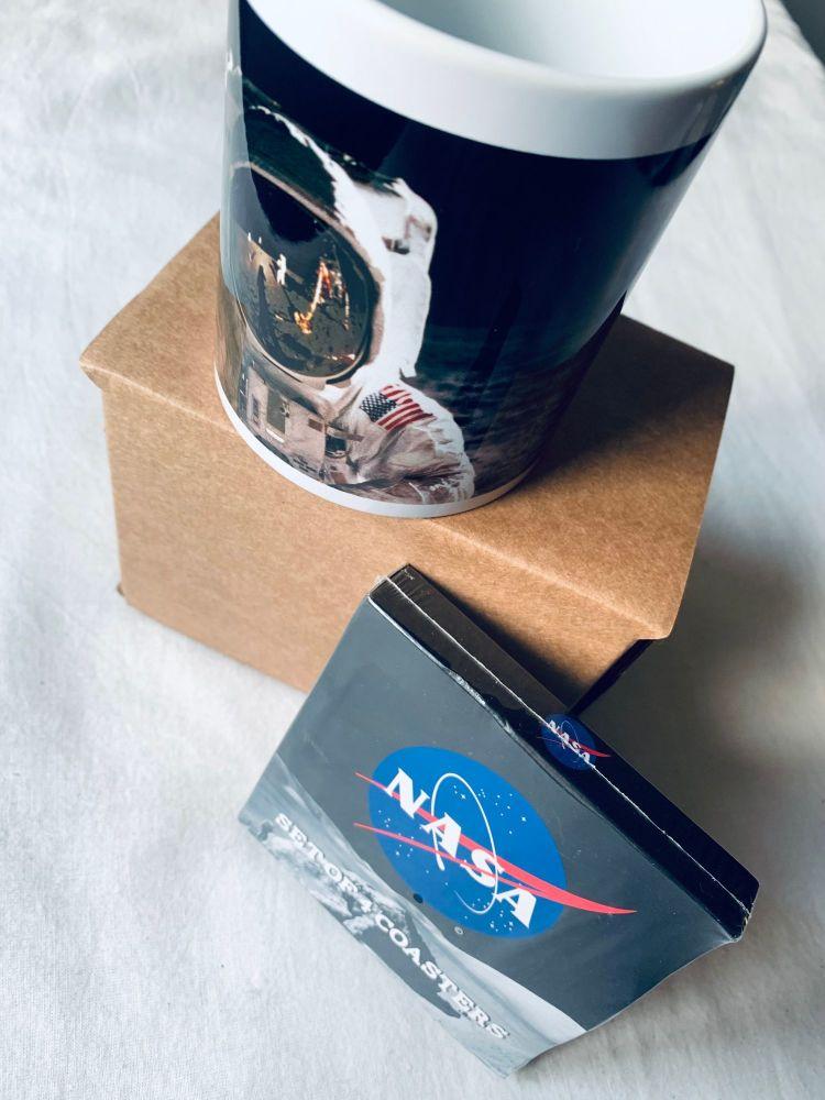 NASA Mug & Coaster Set Apollo 11 Rocket Moon Landing Space Astronaut