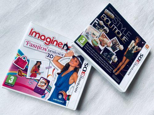 Imagine Fashion & New Style Boutique Nintendo 3DS 2DS Game 2 Set