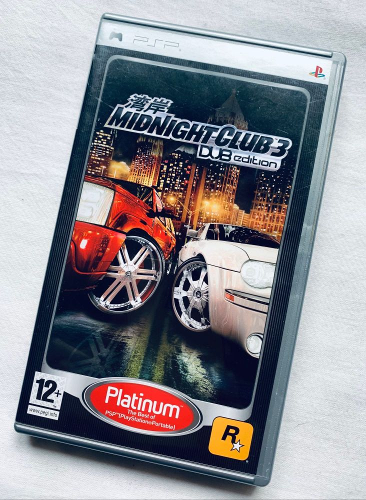 Midnight Club 3 Sony Playstation PSP Handheld UMD Game