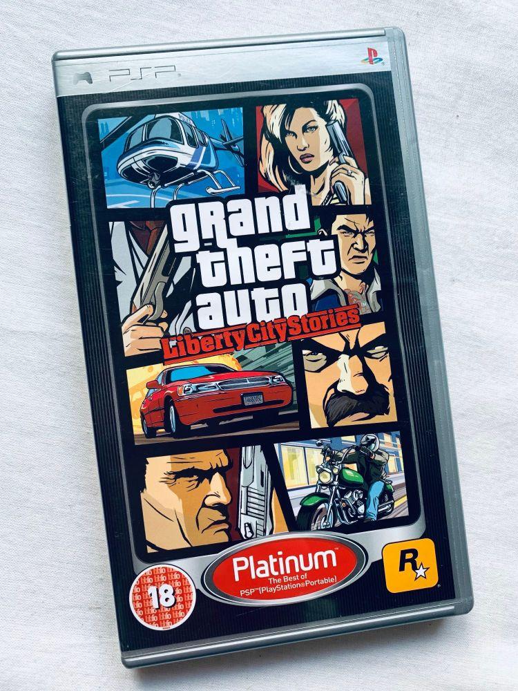 Grand Theft Auto Liberty City Stories Sony Playstation PSP Handheld UMD Gam