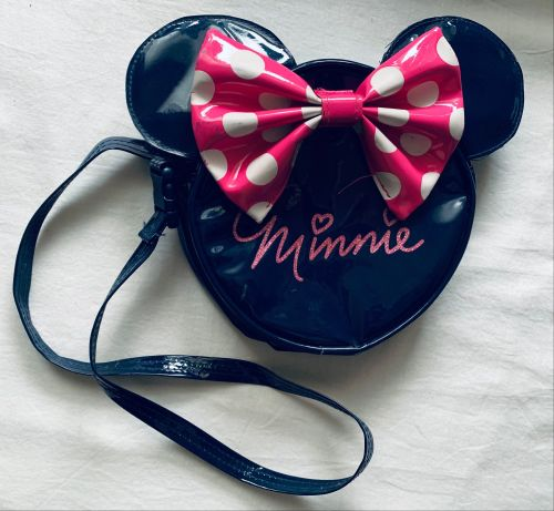 Disney PVC Shiny Dark Navy Midnight Blue Ladies Girls Bag