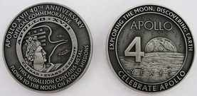 Apollo 17 Medallion Contains Metal Flown To The Moon On Nasa Apollo Mission