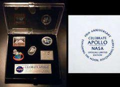 Nasa Apollo 40th Anniversary Pin Badge Collection Set Rare Collectable