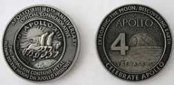 Apollo 13 Nasa 40th Anniversary Medallion Contains Space Flown Metal