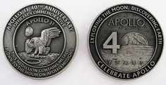 APOLLO 11 MEDALLION Contains Metal Flown To The Moon On Nasa Missions
