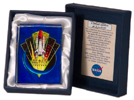 NASA Space Shuttle Program Collectable Limited Edition Office Crystal