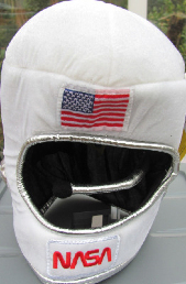 NASA Soft Safe Padded Spaceman Helmet With Coms Microphone Astronaut kids c
