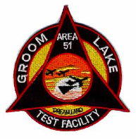 Area 51 Groom Lake Test Facility Patch Rare