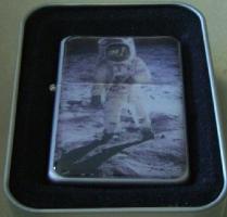 NASA Apollo 11 Moon Landing Zippo Style Petrol Lighter Very Collectable